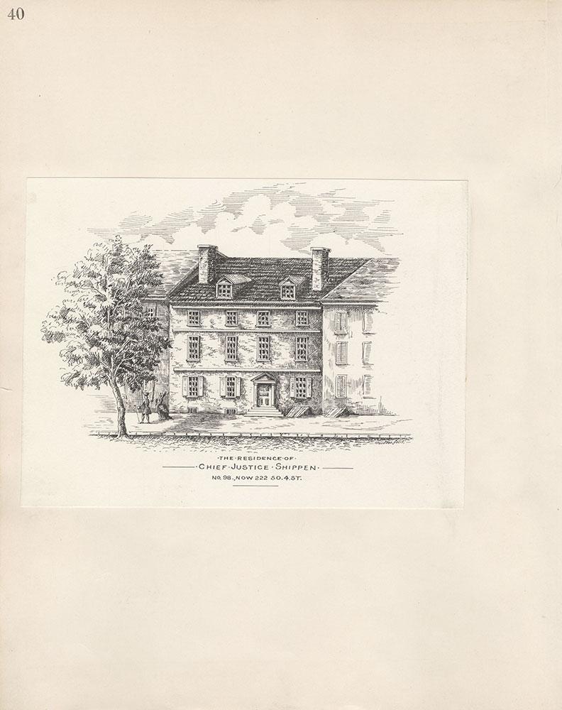 Castner Scrapbook v.5, Old Houses 2, page 40
