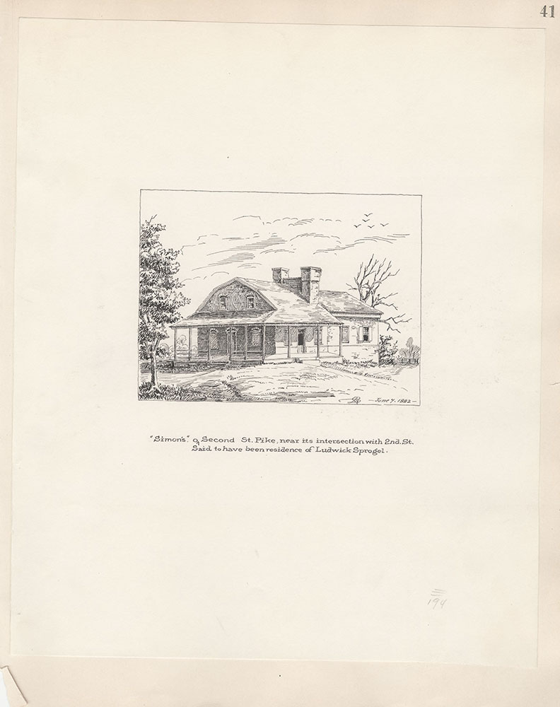 Castner Scrapbook v.5, Old Houses 2, page 41