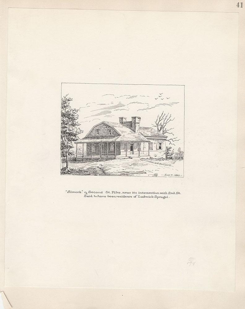 Castner Scrapbook v.5, Old Houses 2, page 41