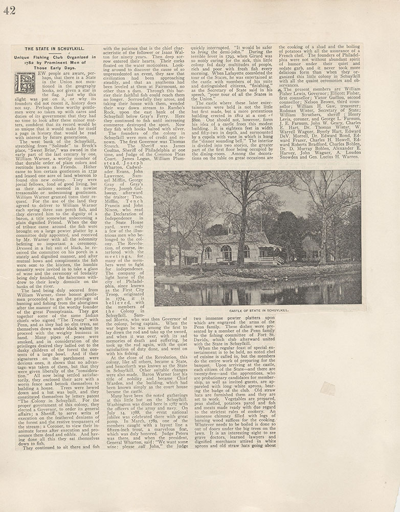 Castner Scrapbook v.5, Old Houses 2, page 42
