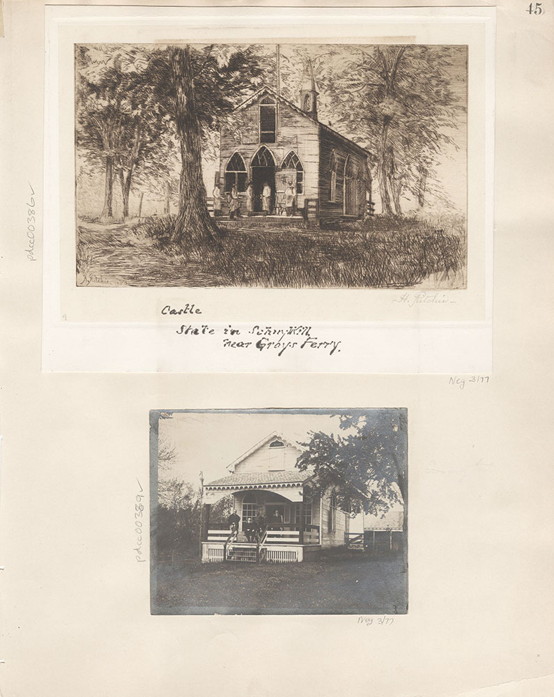 Castner Scrapbook v.5, Old Houses 2, page 45