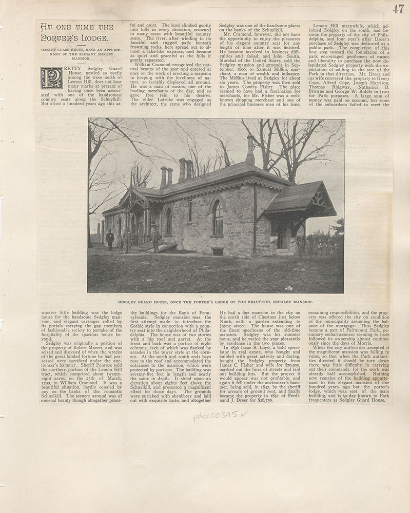 Castner Scrapbook v.5, Old Houses, page 47
