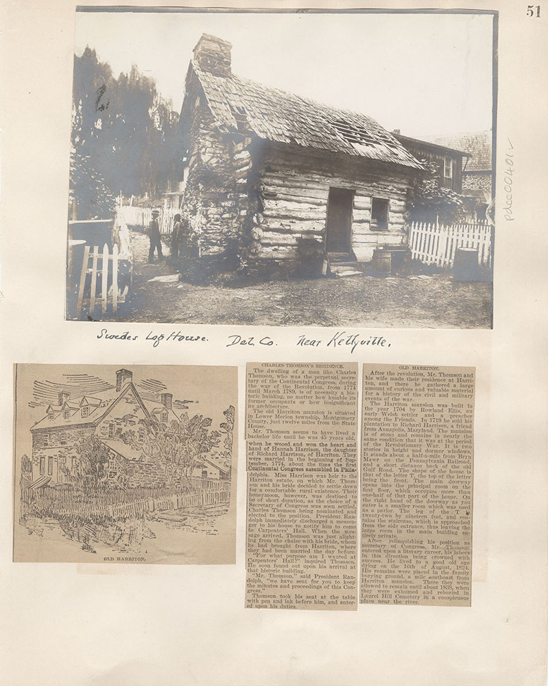Castner Scrapbook v.5, Old Houses 2, page 51