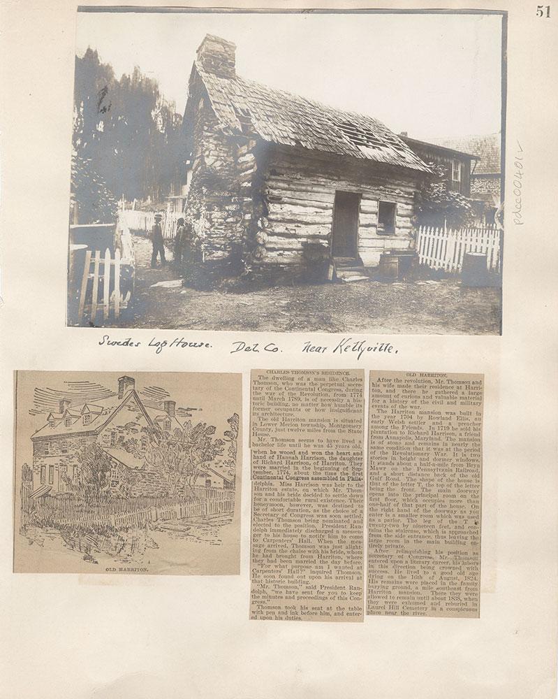 Castner Scrapbook v.5, Old Houses 2, page 51
