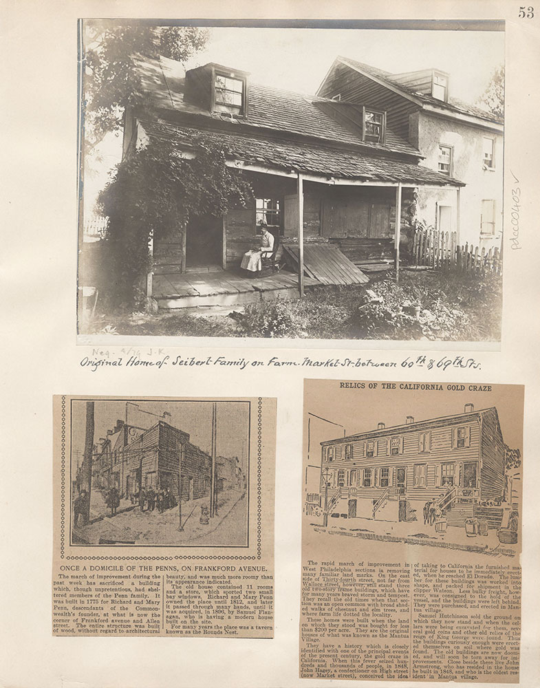 Castner Scrapbook v.5, Old Houses 2, page 53