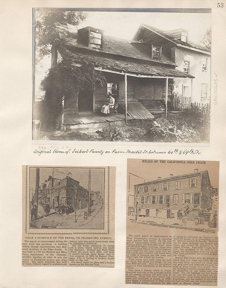 Castner Scrapbook v.5, Old Houses 2, page 53