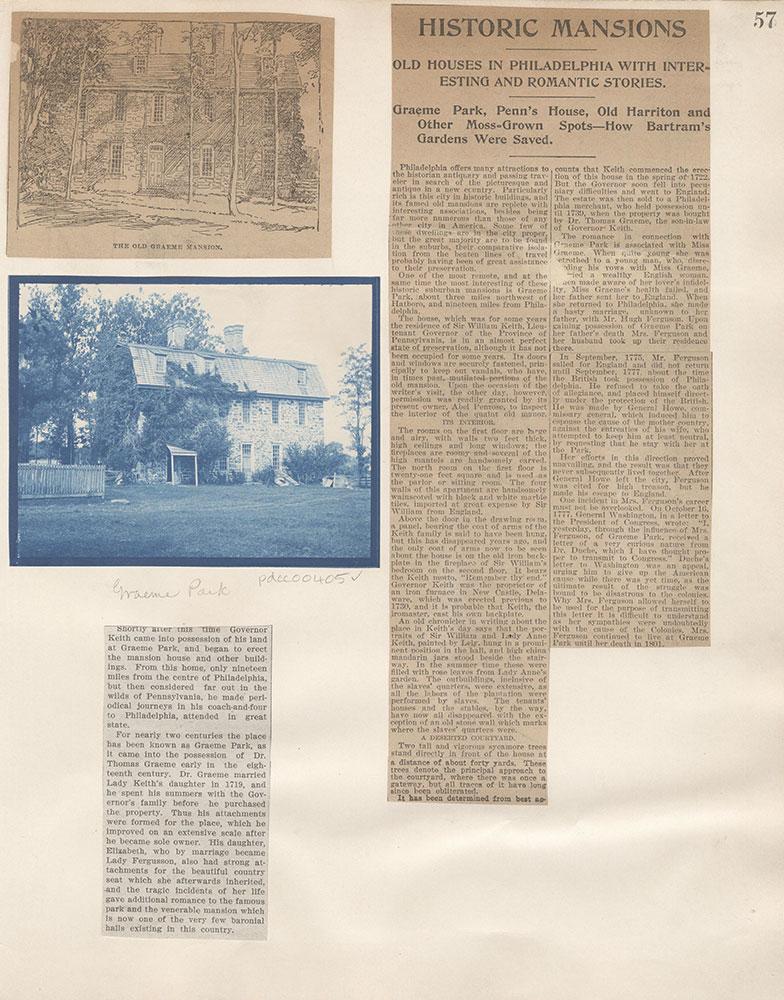 Castner Scrapbook v.5, Old Houses, page 57