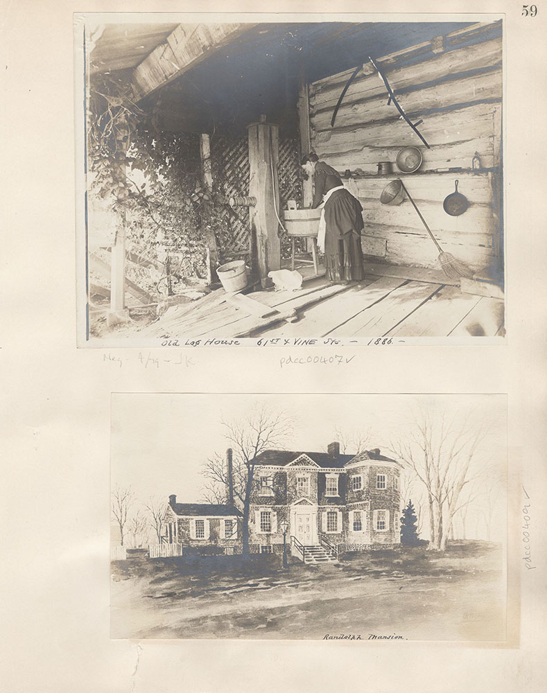 Castner Scrapbook v.5, Old Houses 2, page 59