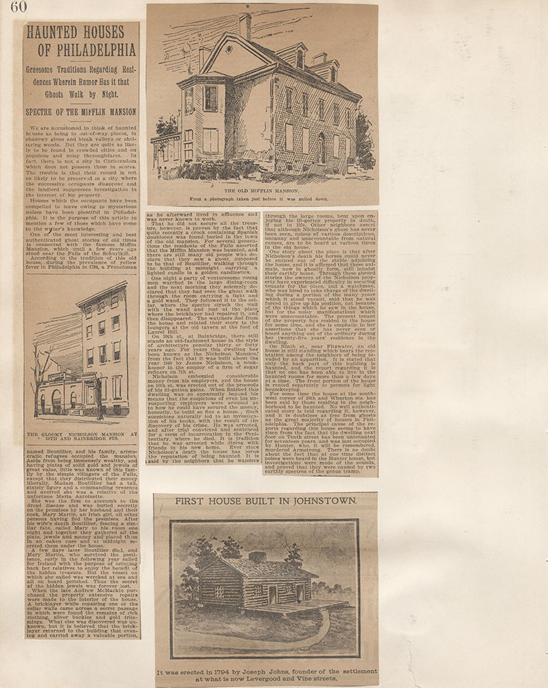 Castner Scrapbook v.5, Old Houses 2, page 60