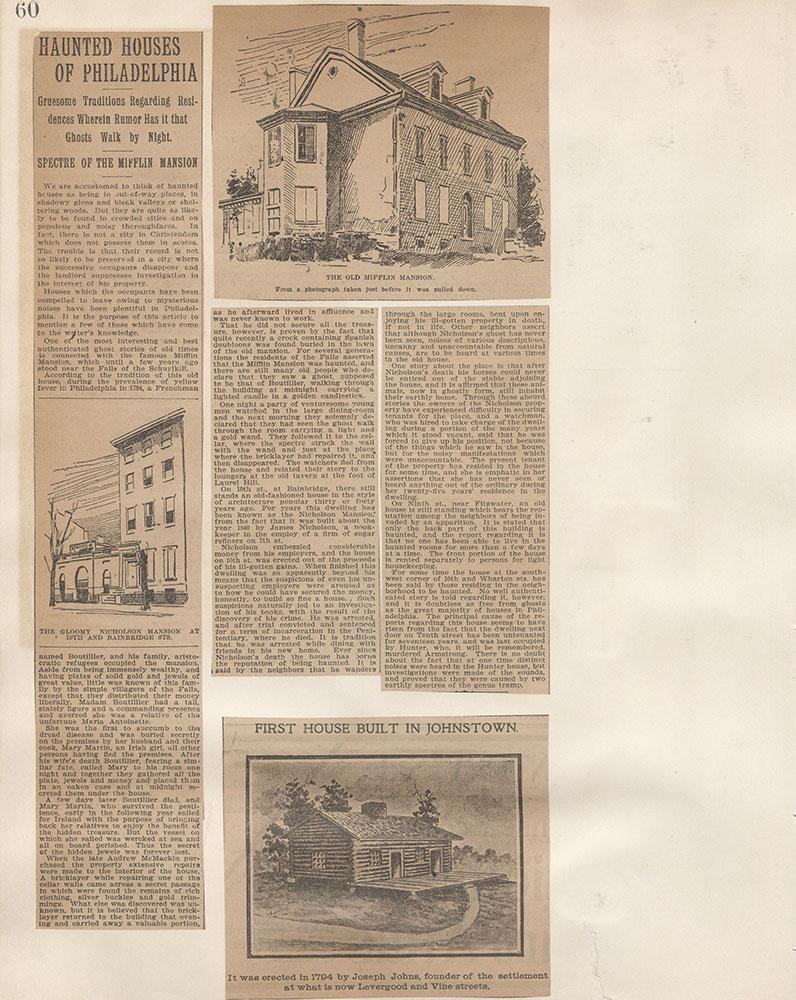 Castner Scrapbook v.5, Old Houses 2, page 60
