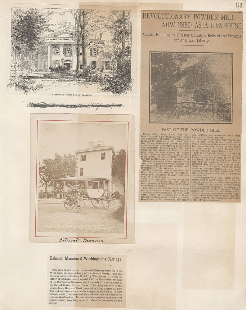 Castner Scrapbook v.5, Old Houses 2, page 61