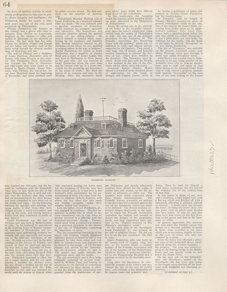 Castner Scrapbook v.5, Old Houses 2, page 64