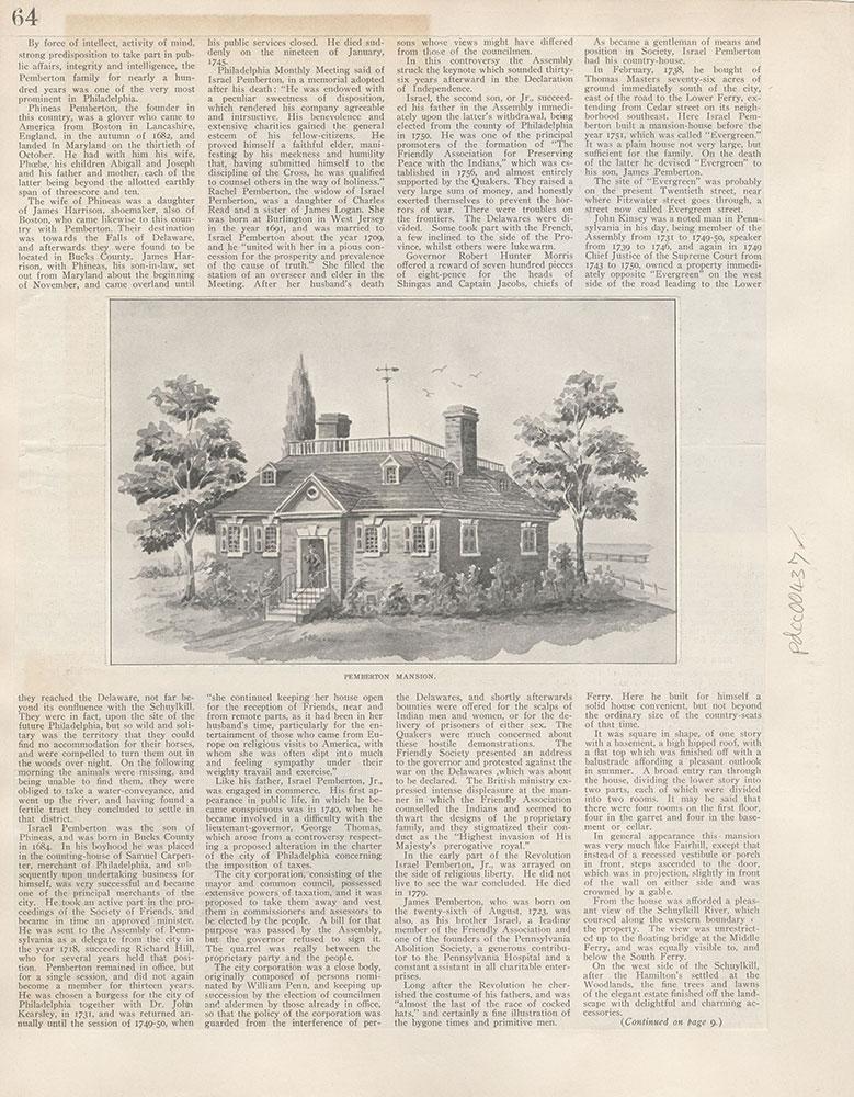 Castner Scrapbook v.5, Old Houses 2, page 64