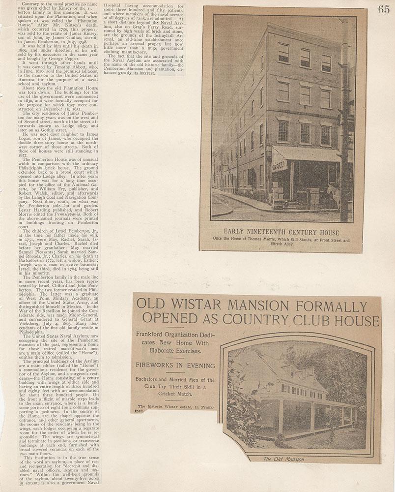 Castner Scrapbook v.5, Old Houses 2, page 65