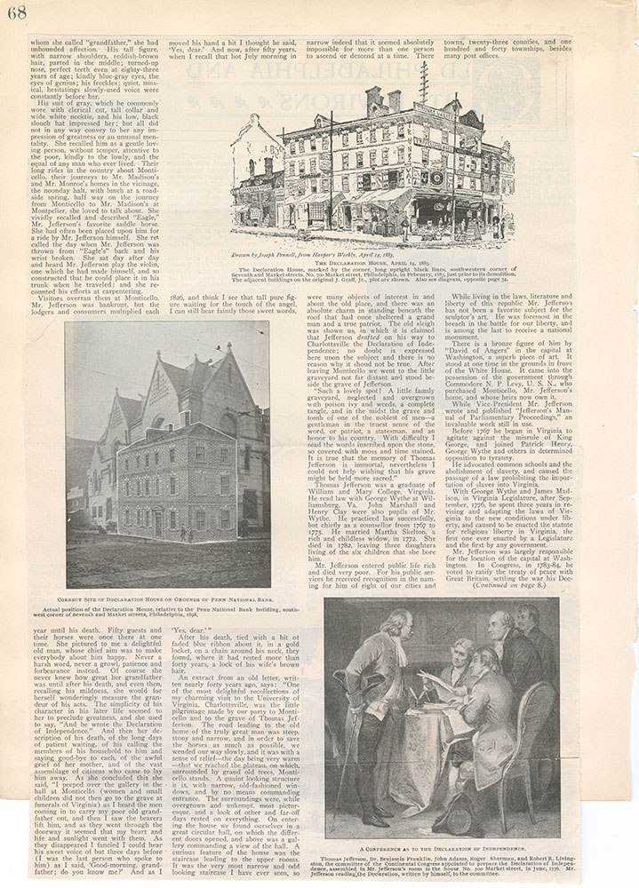 Castner Scrapbook v.5, Old Houses 2, page 68