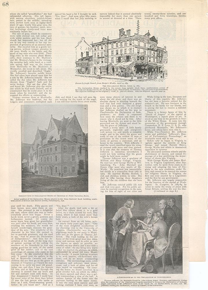 Castner Scrapbook v.5, Old Houses 2, page 68