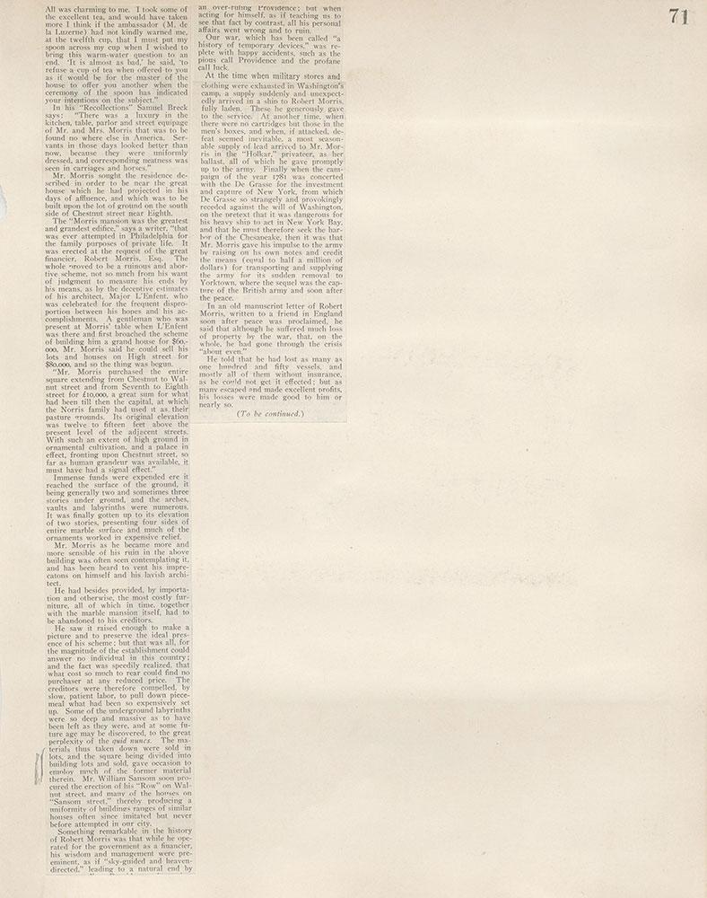 Castner Scrapbook v.5, Old Houses 2, page 71