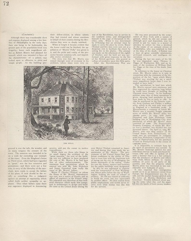 Castner Scrapbook v.5, Old Houses 2, page 72
