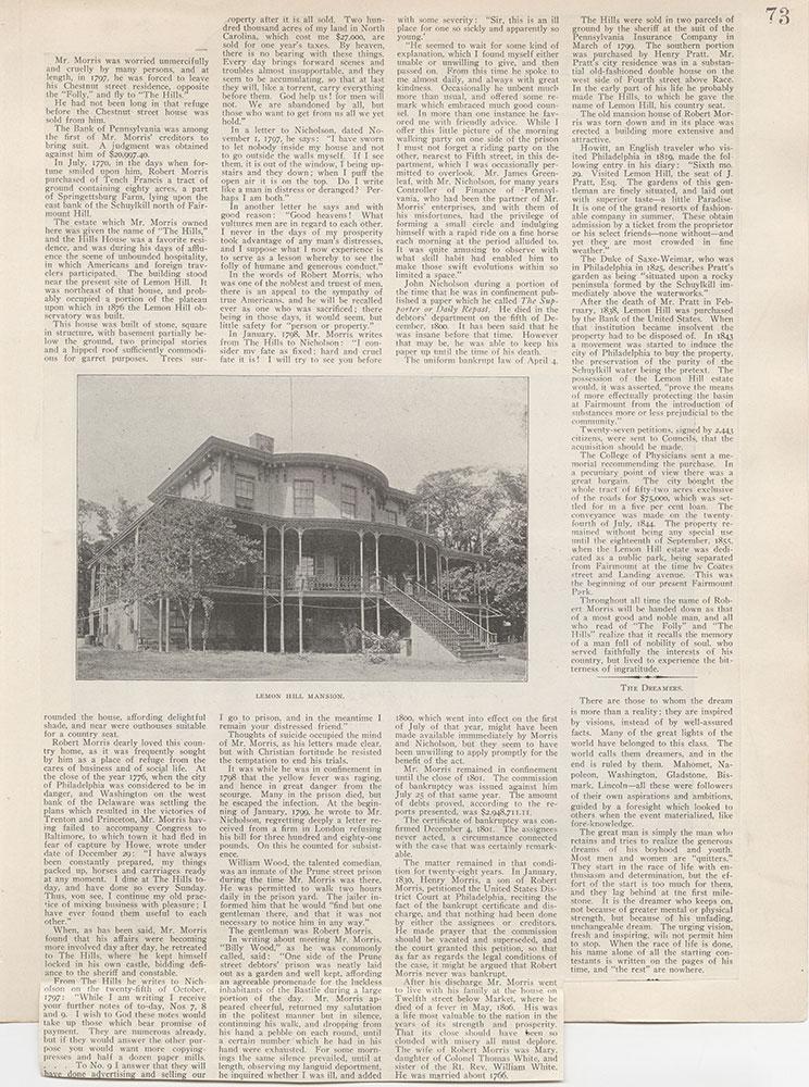 Castner Scrapbook v.5, Old Houses 2, page 73