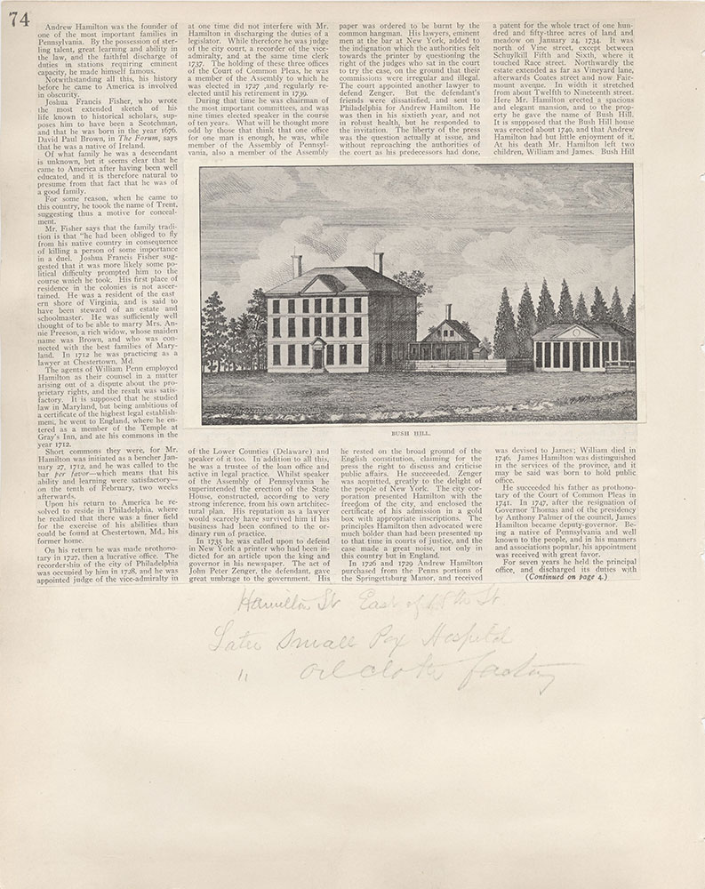 Castner Scrapbook v.5, Old Houses 2, page 74