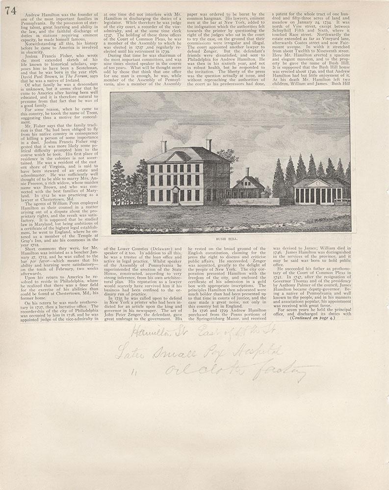 Castner Scrapbook v.5, Old Houses 2, page 74