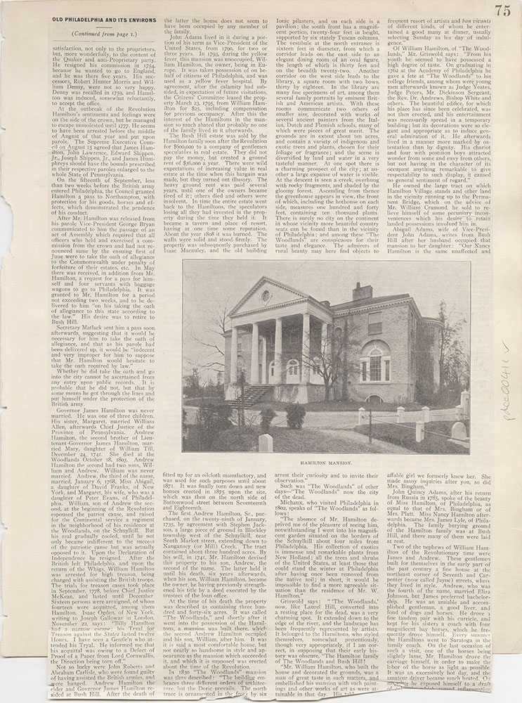 Castner Scrapbook v.5, Old Houses 2, page 75