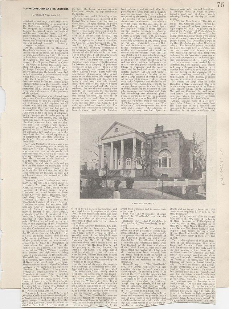 Castner Scrapbook v.5, Old Houses 2, page 75