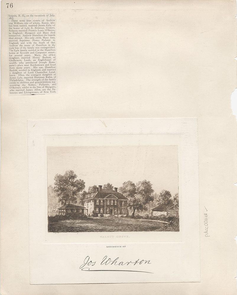 Castner Scrapbook v.5, Old Houses 2, page 76