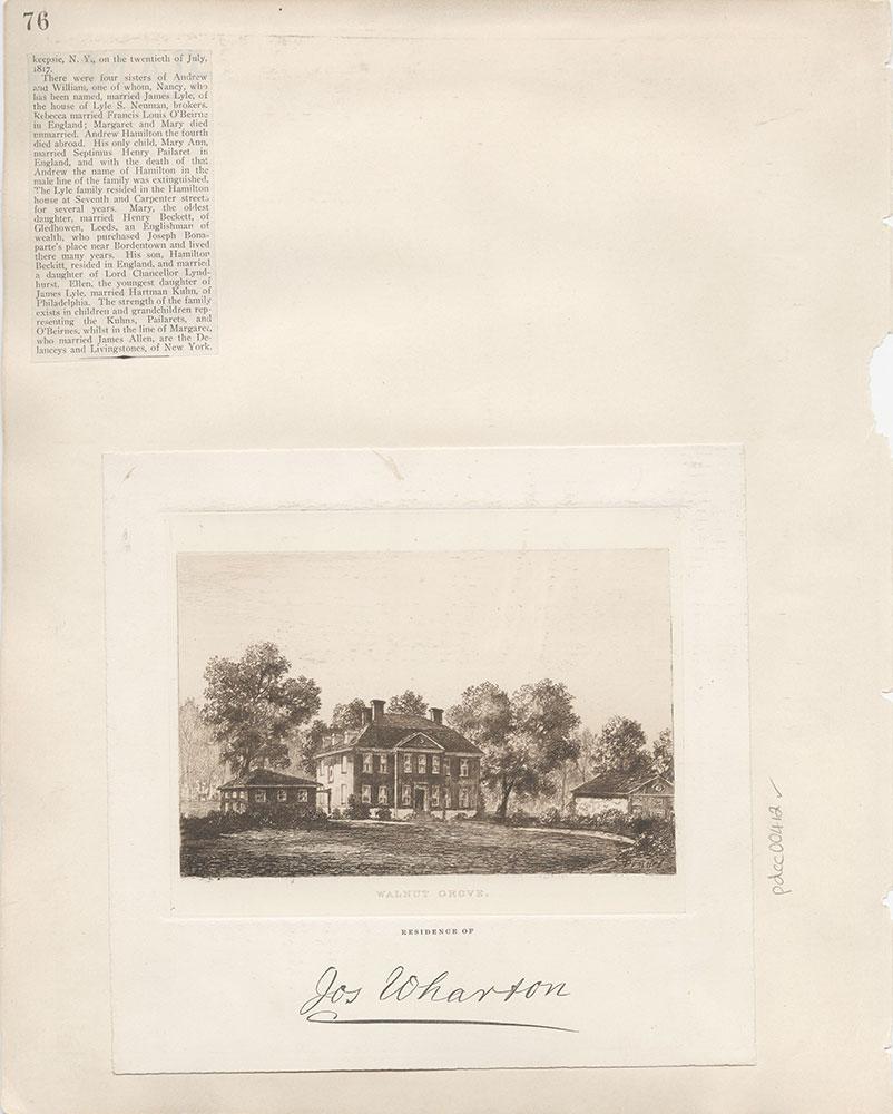 Castner Scrapbook v.5, Old Houses 2, page 76