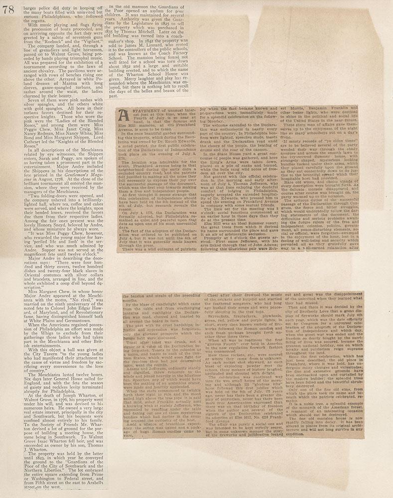 Castner Scrapbook v.5, Old Houses 2, page 78