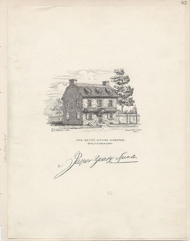 Castner Scrapbook v.5, Old Houses 2, page 83