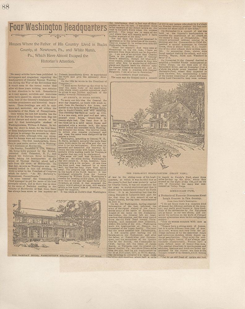 Castner Scrapbook v.5, Old Houses 2, page 88
