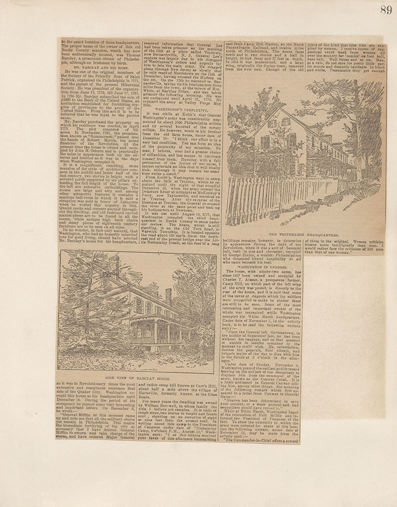 Castner Scrapbook v.5, Old Houses 2, page 89