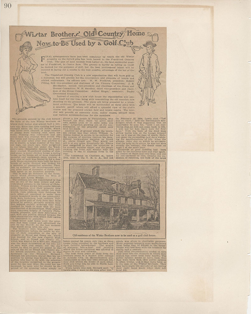 Castner Scrapbook v.5, Old Houses 2, page 90