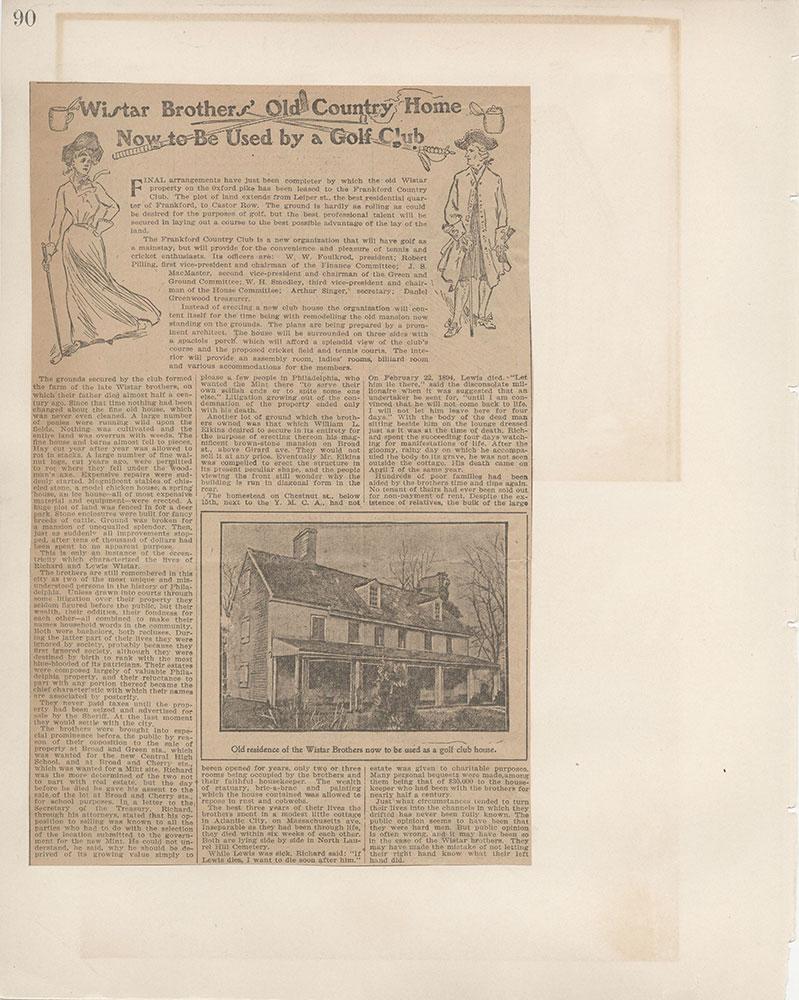 Castner Scrapbook v.5, Old Houses 2, page 90