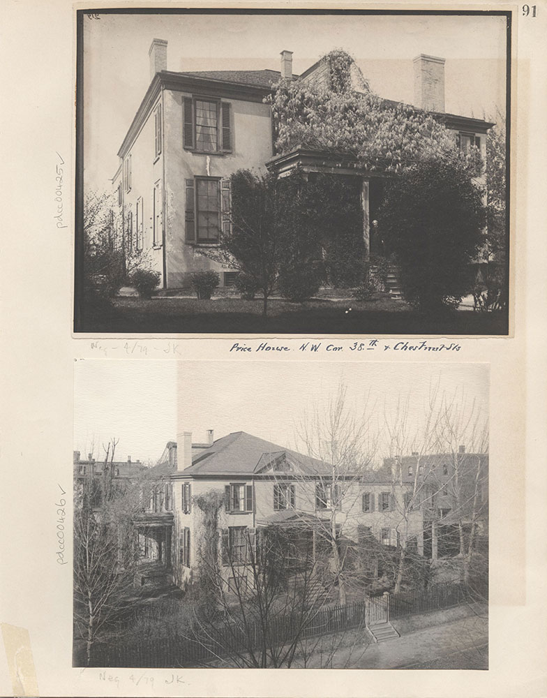 Castner Scrapbook v.5, Old Houses, page 91