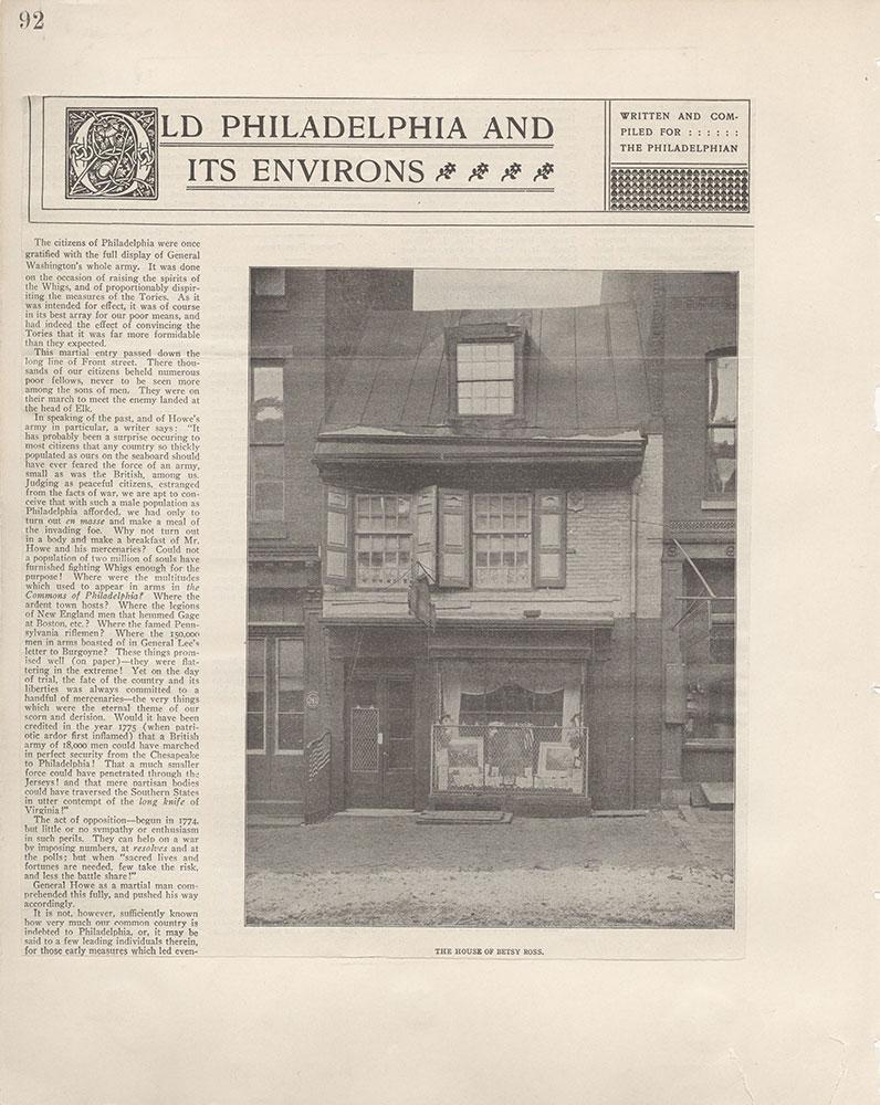 Castner Scrapbook v.5, Old Houses 2, page 92