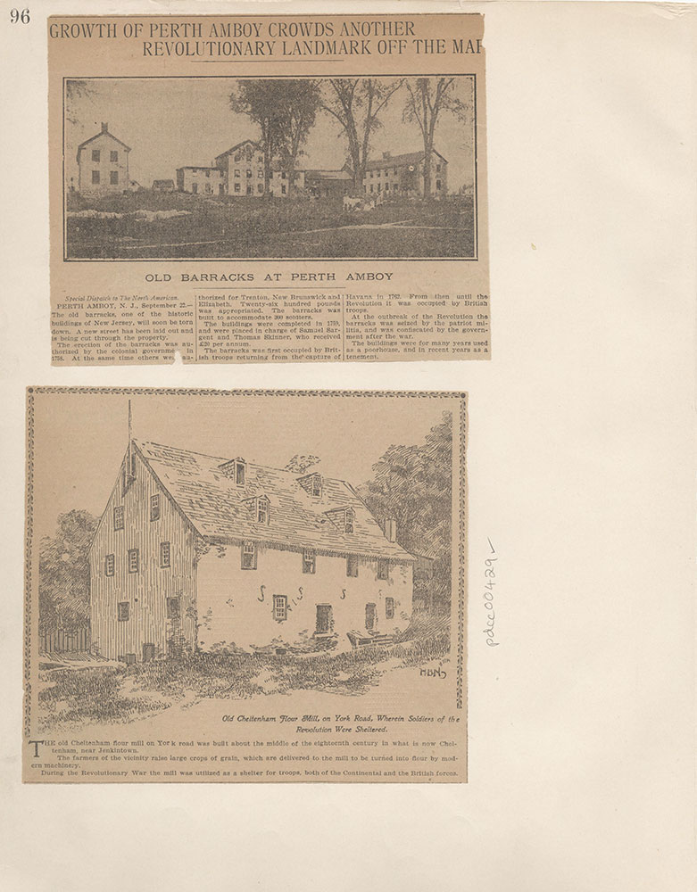 Castner Scrapbook v.5, Old Houses 2, page 96