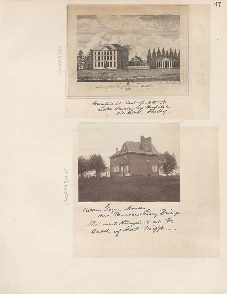 Castner Scrapbook v.5, Old Houses 2, page 97