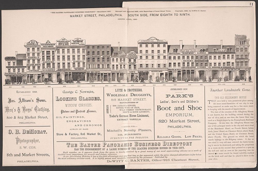 Castner Scrapbook v.6, Market Street, page 11