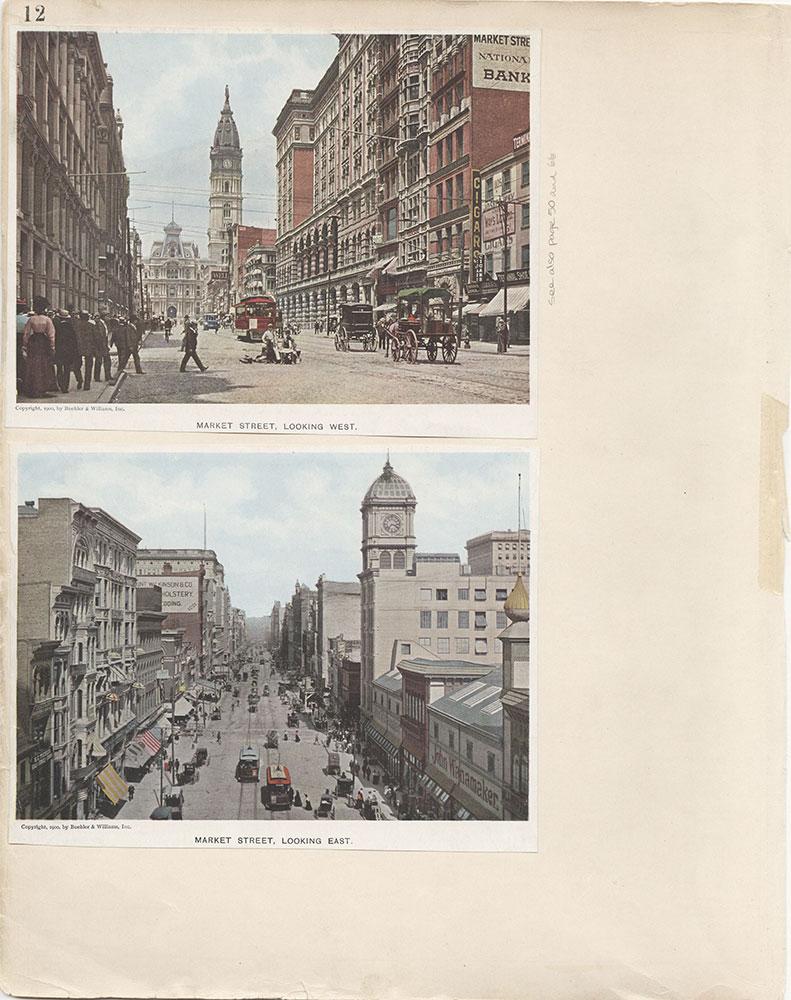 Castner Scrapbook v.6, Market Street, page 12