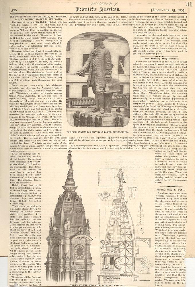 Castner Scrapbook v.6, Market Street, page 31