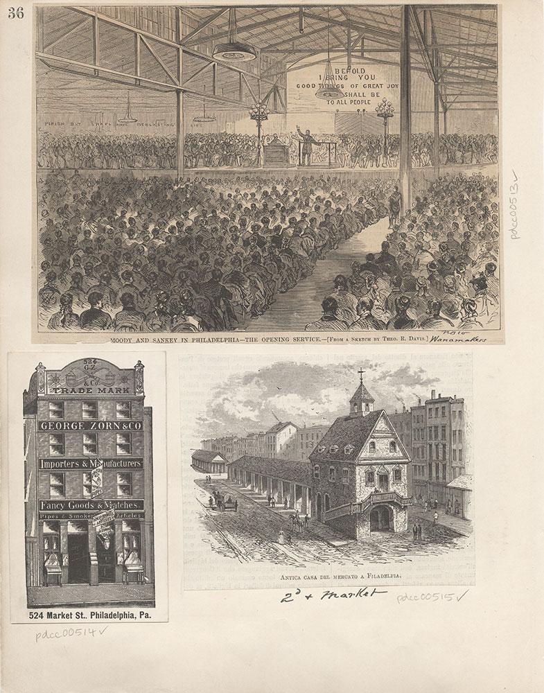 Castner Scrapbook v.6, Market Street, page 36