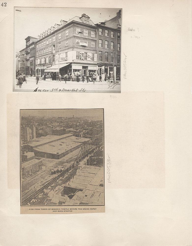 Castner Scrapbook v.6, Market Street, page 42