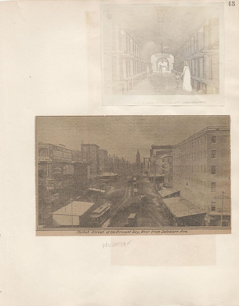 Castner Scrapbook v.6, Market Street, page 43