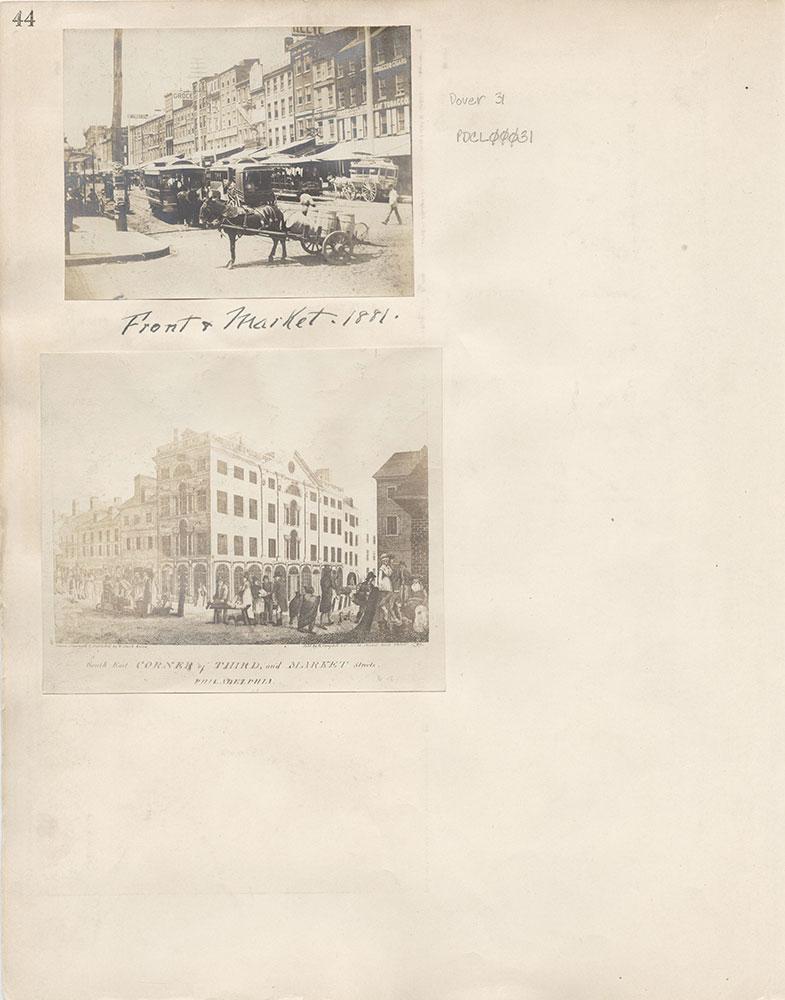 Castner Scrapbook v.6, Market Street, page 44
