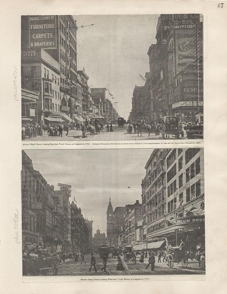 Castner Scrapbook v.6, Market Street, page 47