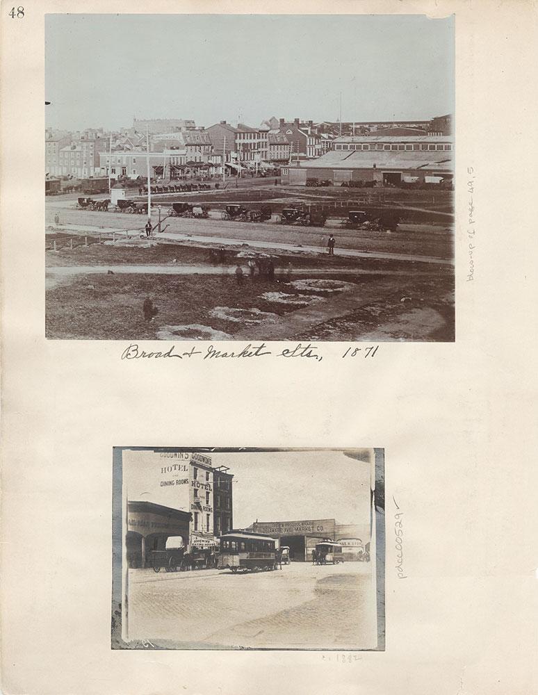 Castner Scrapbook v.6, Market Street, page 48