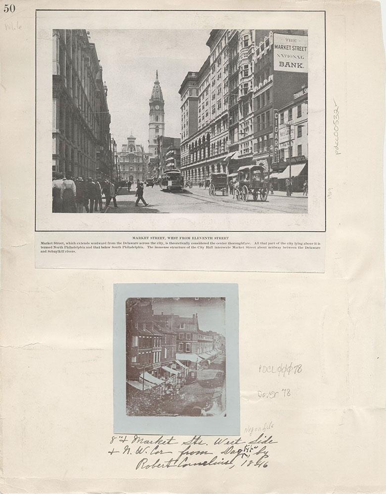 Castner Scrapbook v.6, Market Street, page 50