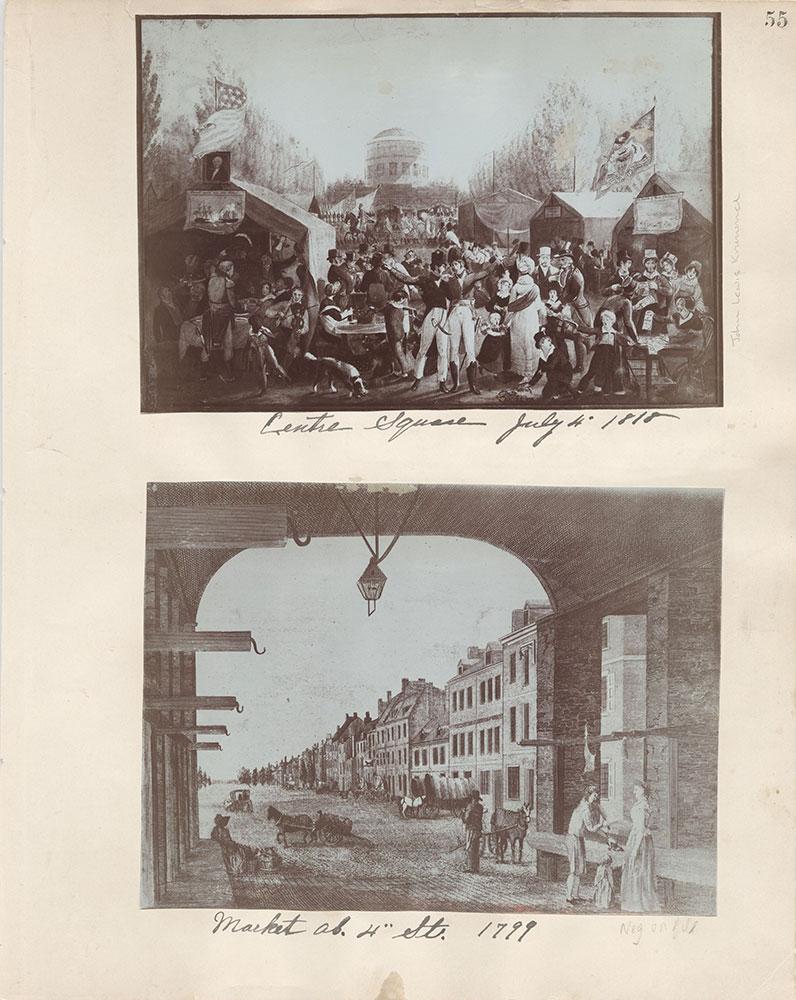 Castner Scrapbook v.6, Market Street, page 55